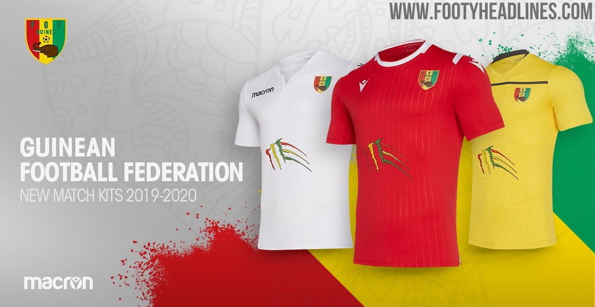 Last Minute Custom Kits - First-Ever | Macron Guinea 2019-20 Home, Away &  Third Kits Released - Footy Headlines